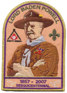 Baden-Powell 150th Anniversary Crest/Badge/Patch